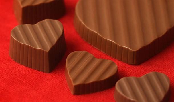 Caixas em formato de coração